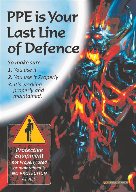 PPE Last Line #4 Safety Posters