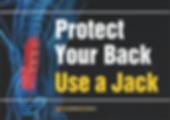 Protect Your Back Use Jack Safety Slogan