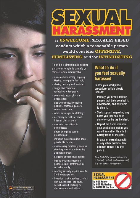 Sexual Harassment (Femal) Safety Posters