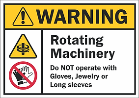 Rotating Machinery Safety Sign US Thumbn