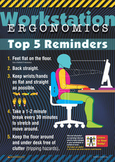 Workstation Ergonomic Top 5 Safety Posters