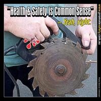 Health & Safety is Common Sense Meme #9.