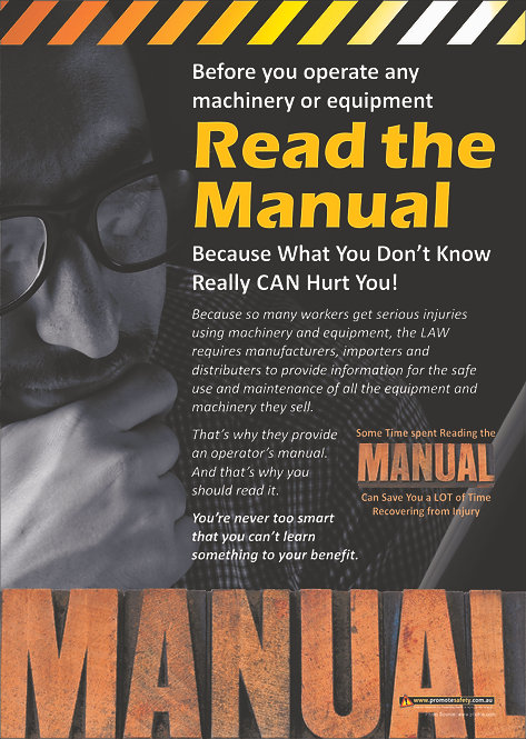 Read the Manual Safety Posters