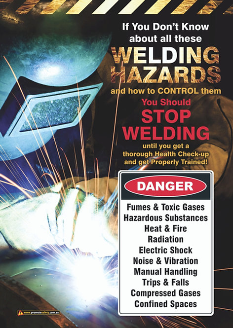 Welding Hazards Safety Posters