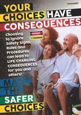 Consequences Wheelchair 1 Safety Posters
