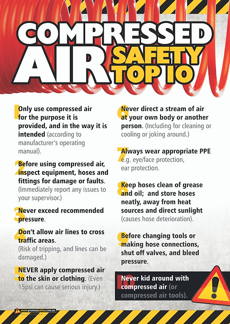 Compressed Air Top 10 Safety Posters