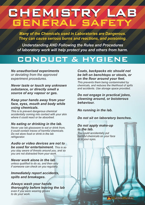 Chem Lab Safety Basics #2 Safety Posters
