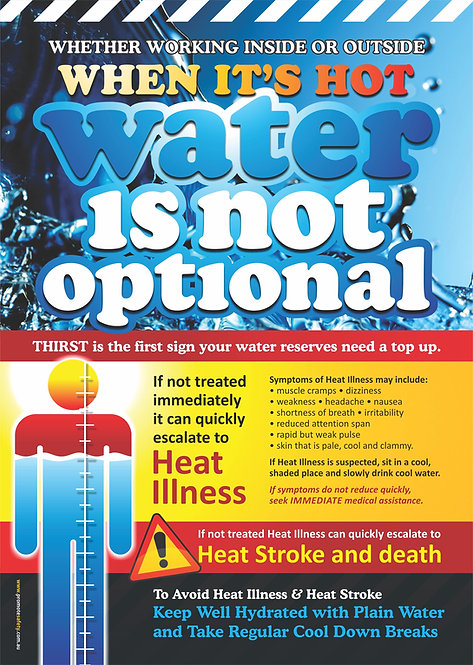 Water is NOT Optional Safety Posters