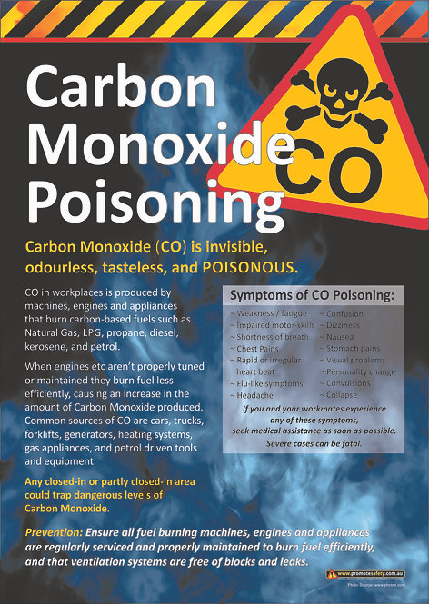 Carbon Monoxide Safety Posters