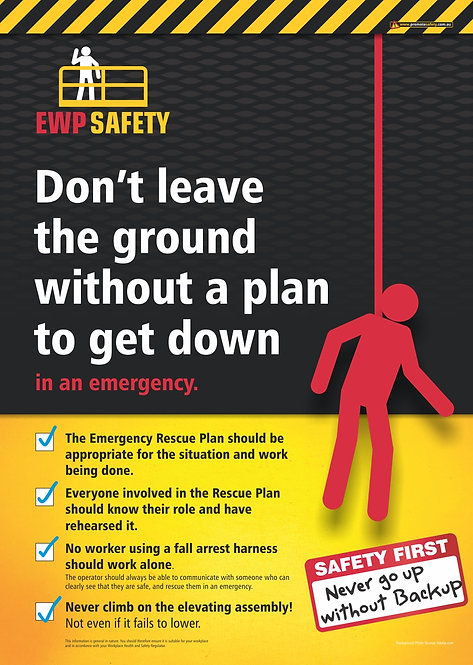 EWP Rescue Plan Safety Posters