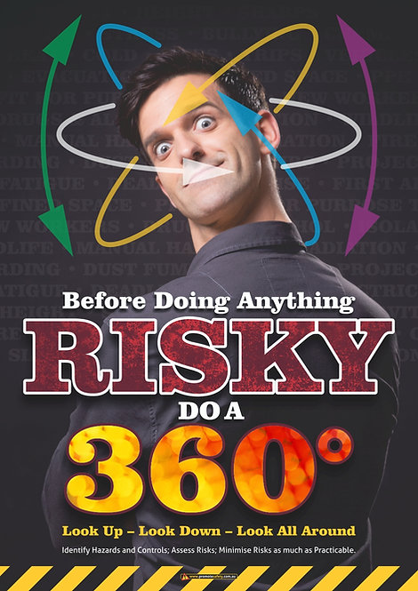 Risky 360 Look Around Safety Posters