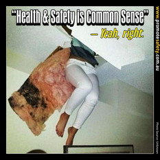 Health & Safety is Common Sense Meme #12