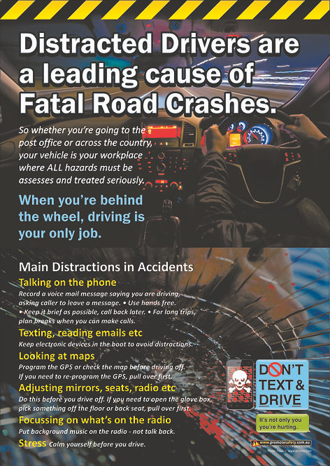 Distracted Driver Safety Posters
