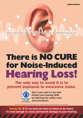 No Cure Hearing Loss Safety Posters