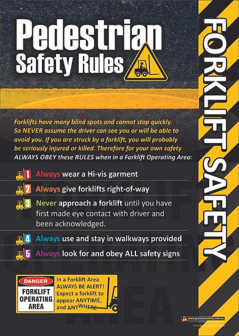 Forklift Pedestrians Safety Posters