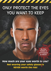 Only Protect the Eyes You Want to Keep Safety Posters 1A