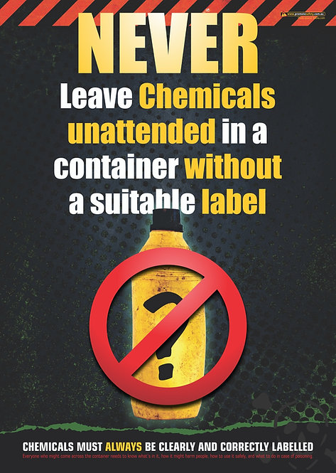 Label Chemicals Safety Posters