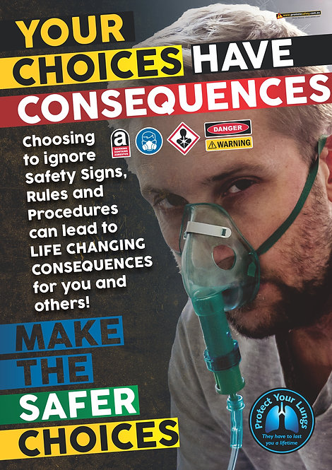 Consequences Lungs Safety Posters