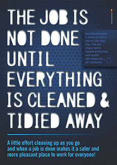 Job is Not Done Until Blue Safety Poster