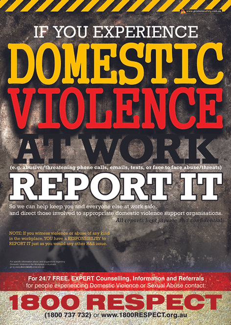 Domestic Violence at Work Safety Posters