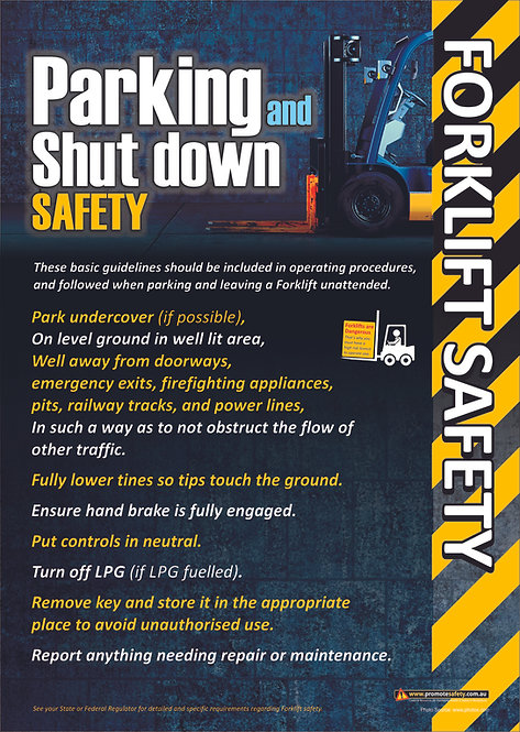 Forklift Parking and Shut Down Safety Posters