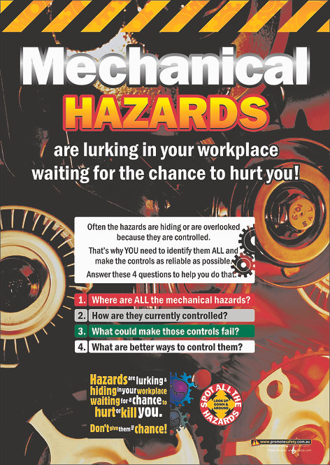 Mechanical Hazards Safety Posters