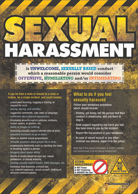 Sexual Harassment Safety Posters