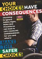 Consequences Wheelchair 2 Safety Posters