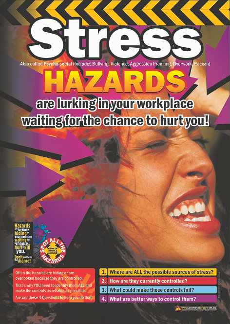 Stress Hazards Safety Posters