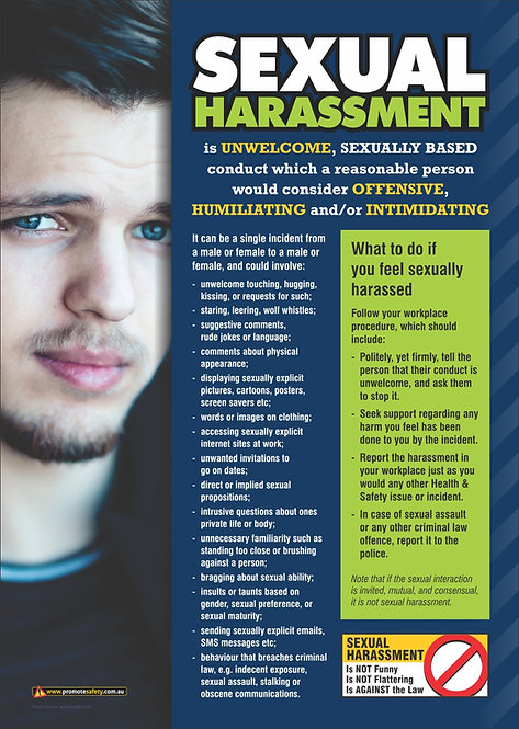 Sexual Harassment (Male) Safety Posters