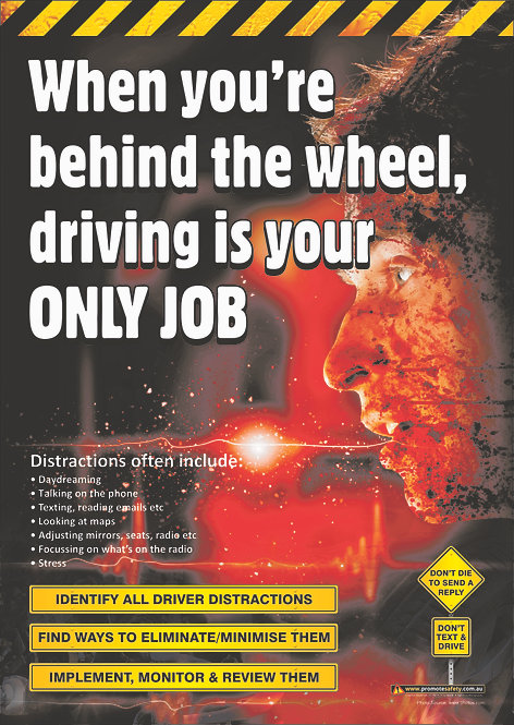 Driving is Your Only Job #1 Safety Posters