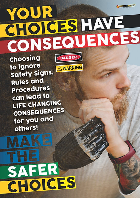 Consequences Limb Loss Safety Posters