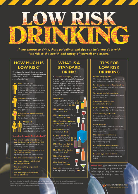 Low Risk Drinking Safety Posters
