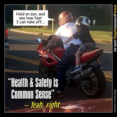 Health & Safety is Common Sense Meme #8.