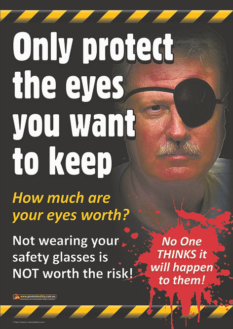 Protect the Eyes You Want to Keep #1 Safety Posters