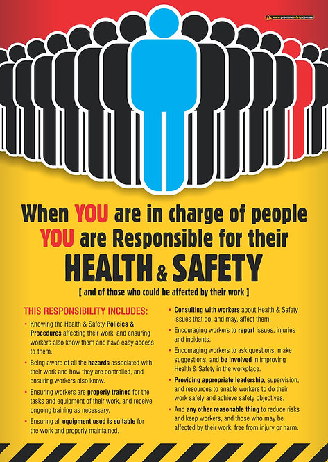Managers Health & Safety Responsibilities Safety Posters