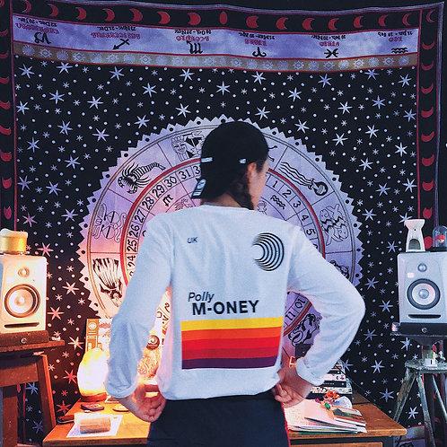 Polly Money Long Sleeve White Tee