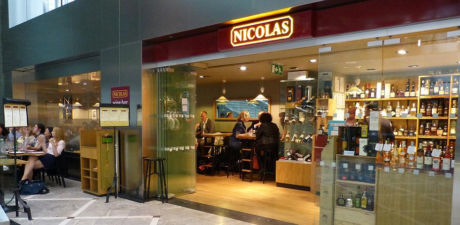 wine bar, wine shop, bottle store, nicolas wine bar
