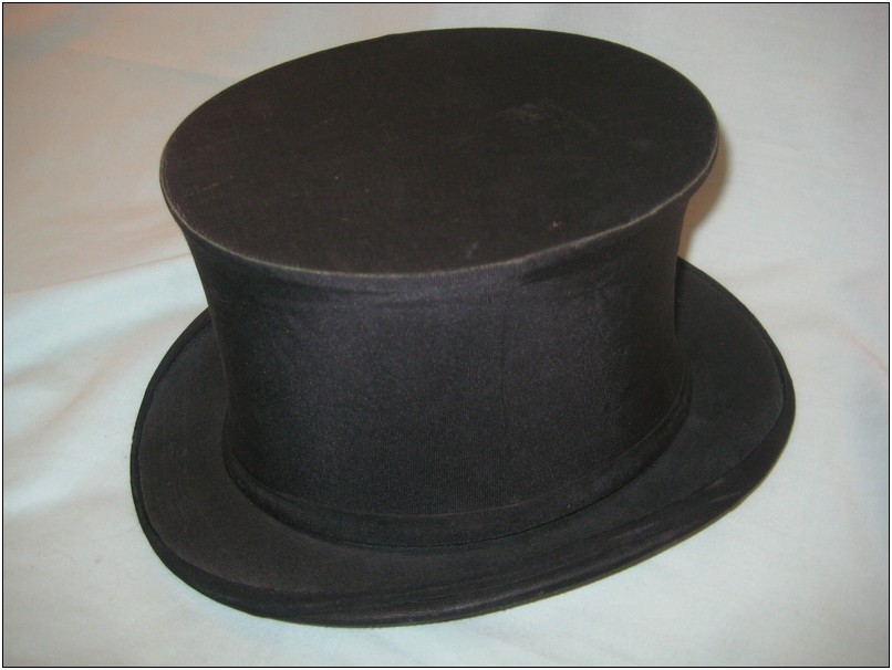 Antique Dobbs Fifth Ave New York Collapsible Silk/Satin Top Hat - Folding  Opera Hat
