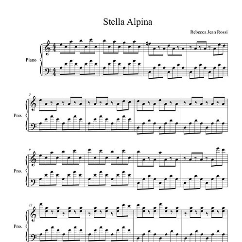 Stella Alpina Sheet Music
