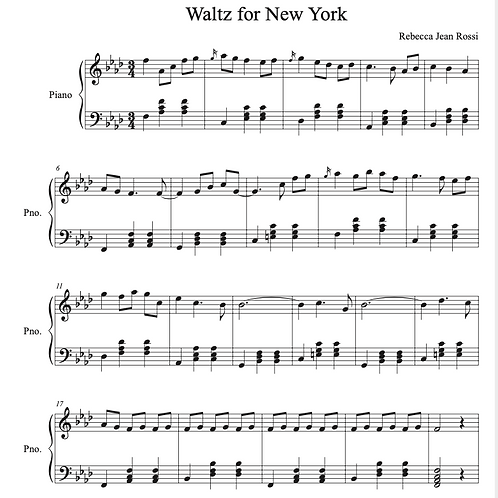 Waltz for New York Sheet Music