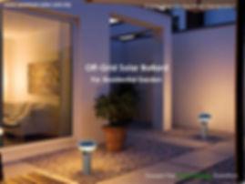 Off- grid Solar Bollard for residential garden
