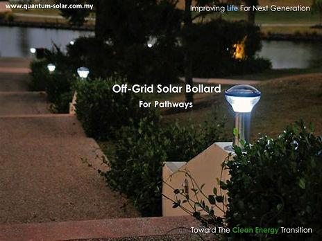 off grid solar bollard for pathways