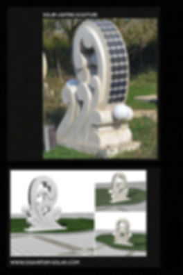 solar lighting sculptural