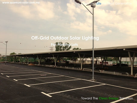 off-Grid Outdoor Solar Lighting for Parking Lots