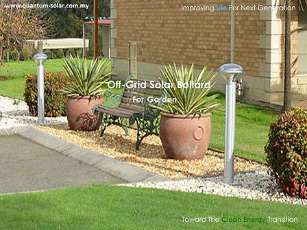 off grid solar bollard for garden