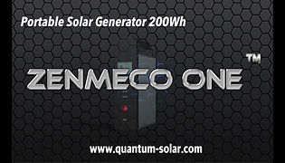 Portable Solar Generator Zenmeco One Video