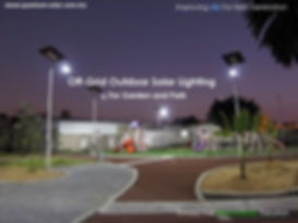 off-Grid Outdoor Solar Lighting for Garden and Park