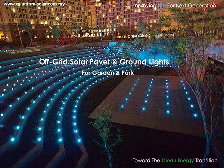 off grid solar paver & ground lights