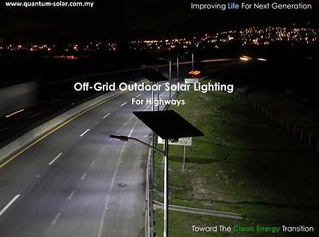 off-Grid Outdoor Solar Lighting for Highways